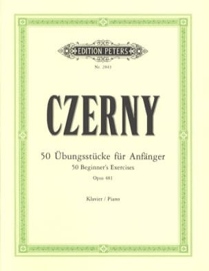 CZERNY - 50 Beginner Exercises Opus 481 - Sheet Music - di-arezzo.com