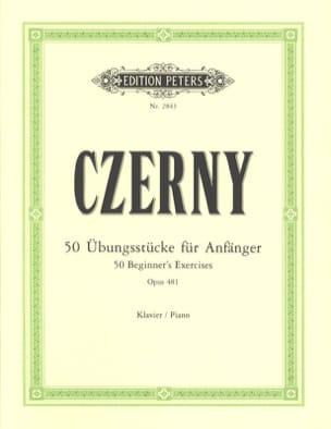 CZERNY - 50 Beginner Exercises Opus 481 - Sheet Music - di-arezzo.co.uk