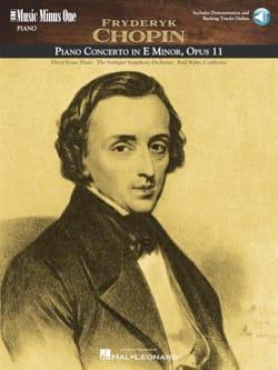 Frédéric Chopin - Concerto pour piano n° 1 en Mi mineur Opus 11 - Partition - di-arezzo.fr
