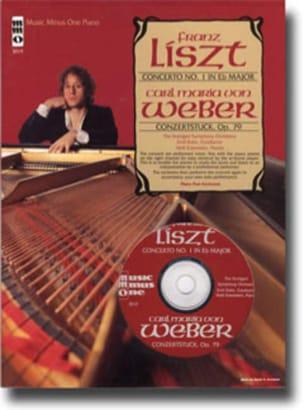 Liszt Ferenc / Weber Carl Maria von - Piano Concerto N° 1 / Konzertstück Op. 79 - Partition - di-arezzo.fr
