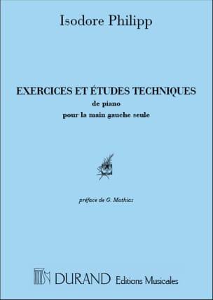 Exercices et Etudes Main Gauche Isodore Philipp Partition laflutedepan