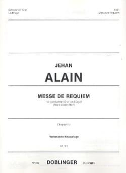 Jehan Alain - Messe de Requiem. Choeur seul - Partition - di-arezzo.fr