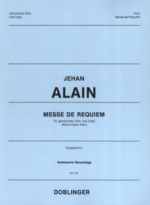 Jehan Alain - Messe de Requiem - Partition - di-arezzo.fr