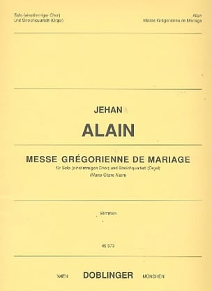 Jehan Alain - Messe grégorienne de Mariage - Partition - di-arezzo.fr