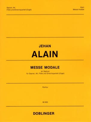 Jehan Alain - Messe Modale En Septuor. Conducteur - Partition - di-arezzo.fr