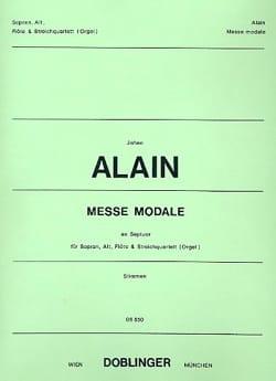 Messe Modale En Septuor. Parties Jehan Alain Partition laflutedepan