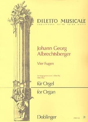 4 Fugues Johann Georg Albrechtsberger Partition Orgue - laflutedepan