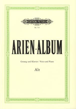 Arien Album Alt Partition Recueils - laflutedepan