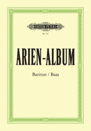 - Arien Album Baryton / Basse - Partition - di-arezzo.fr