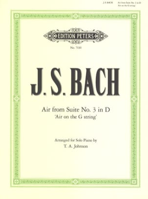 Air de la Suite N°3 En Ré BWV 1068 BACH Partition Piano - laflutedepan