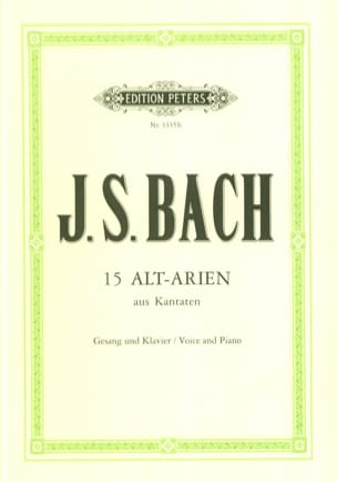BACH - 15 Cantatas for Alto - Sheet Music - di-arezzo.co.uk