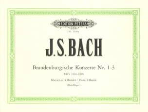 BACH - Brandenburg Concertos 1-3. 4 Hands - Sheet Music - di-arezzo.co.uk
