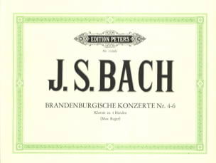 BACH - Brandenburg Concertos 4-6. 4 Hands - Sheet Music - di-arezzo.co.uk