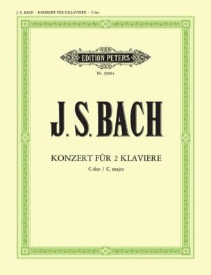 Concerto BWV 1061 Pour 2 Pianos Do Majeur - laflutedepan.com