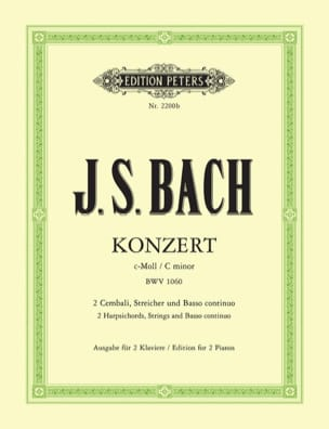 BACH - Concerto For 2 Keyboards In C Minor BWV 1060 - Sheet Music - di-arezzo.co.uk