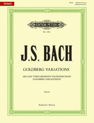 Variations Goldberg BWV 988 BACH Partition Piano - laflutedepan