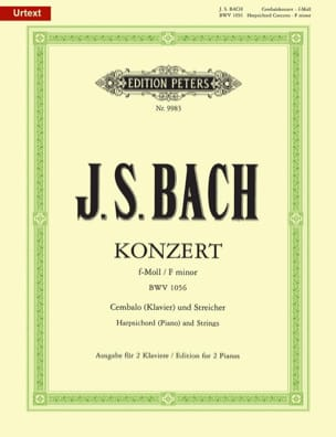 BACH - FW Minor Keyboard Concerto BWV 1056 - Sheet Music - di-arezzo.co.uk