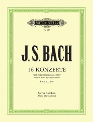 BACH - 16 Concertos According to Vivaldi, Marcello ... - Sheet Music - di-arezzo.co.uk