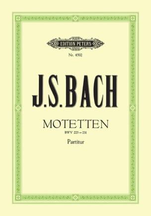 Motetten - Jean-Sébastien Bach - Partition - Chœur - laflutedepan.com