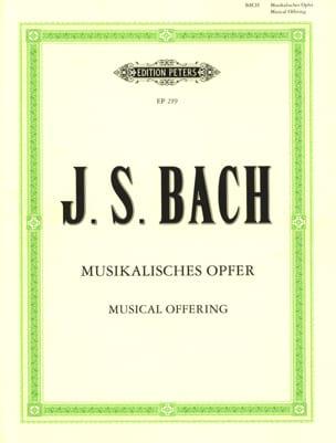 Jean-Sébastien Bach - Musikalisches Opfer Bwv 1079 - Partition - di-arezzo.fr