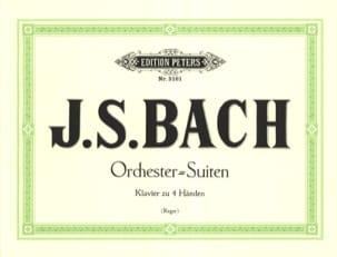 BACH - Orchestersuiten. 4 Mains - Partition - di-arezzo.fr