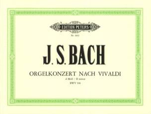 BACH - Concerto Pour Orgue D'après Vivaldi BWV 596. - Partition - di-arezzo.fr