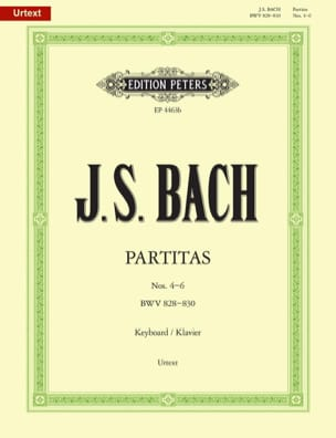 Partitas. Volume 2 BACH Partition Piano - laflutedepan