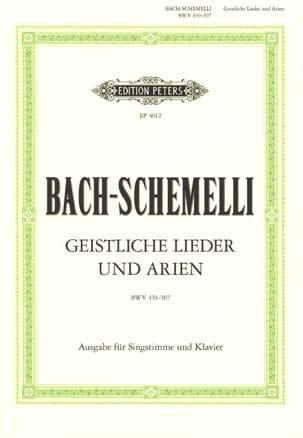 BACH - Schemelli Geistliche Lieder Und Arien - Sheet Music - di-arezzo.com