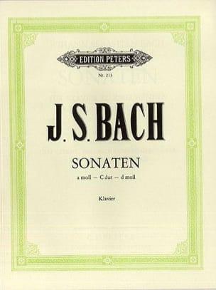 3 Sonates - J.S Bach - Partition - Piano - laflutedepan.com