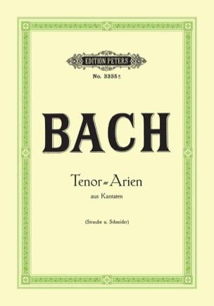 BACH - 15 Airs de Cantates pour Ténor - Partition - di-arezzo.fr