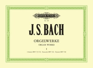 Orgelwerke. Volume 1 BACH Partition Orgue - laflutedepan
