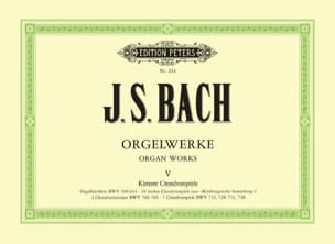 Orgelwerke. Volume 5 BACH Partition Orgue - laflutedepan