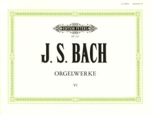 Orgelwerke. Volume 6 BACH Partition Orgue - laflutedepan