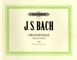 Orgelwerke. Volume 7 BACH Partition Orgue - laflutedepan
