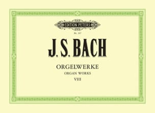 BACH - Orgelwerke. Volume 8 - Partition - di-arezzo.fr