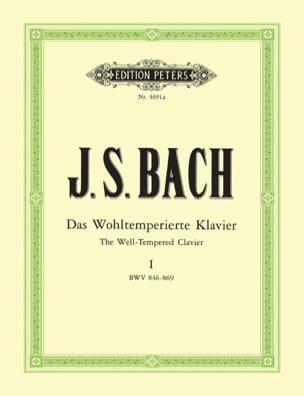 BACH - The Well Tempered Keyboard Volume 1 - Sheet Music - di-arezzo.co.uk