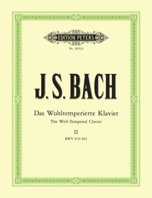 BACH - The Well Tempered Keyboard. Volume 2 - Sheet Music - di-arezzo.co.uk