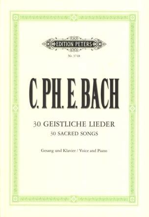 30 Geistliche Lieder Carl-Philipp Emanuel Bach Partition laflutedepan