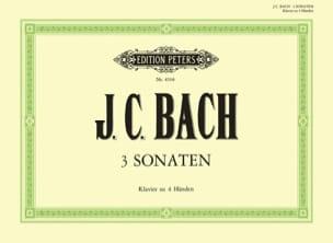 Johann Christian Bach - 3 Sonates. 4 Mains - Partition - di-arezzo.fr