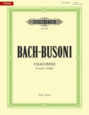 Bach Jean-Sébastien / Busoni Ferruccio - Chaconne BWV 1004 - Partition - di-arezzo.fr