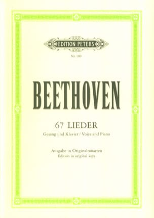 BEETHOVEN - 67 Lieder - Sheet Music - di-arezzo.co.uk