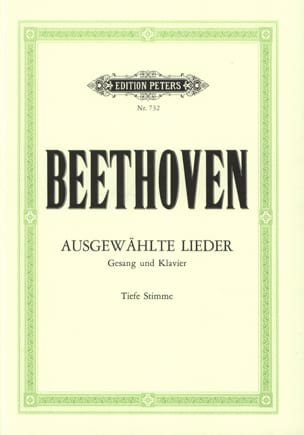 Ludwig van Beethoven - Lieder Choisis Voix Grave - Partition - di-arezzo.fr