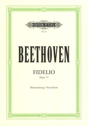 BEETHOVEN - Fidelio Opus 72 - Partition - di-arezzo.fr