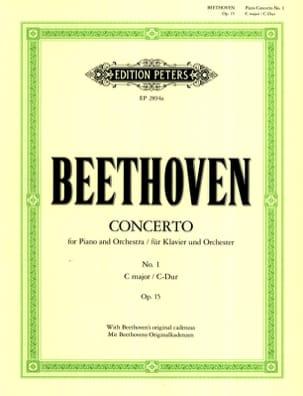 Ludwig van Beethoven - Concerto Pour Piano N°1 Opus 15 en Do Majeur - Partition - di-arezzo.fr