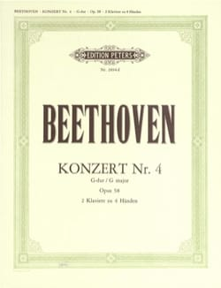 BEETHOVEN - Concerto Pour Piano N°4 Opus 58 En Sol Majeur - Partition - di-arezzo.fr