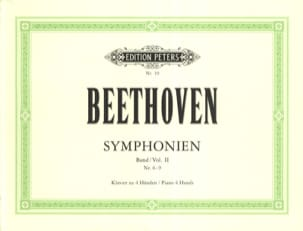 BEETHOVEN - Symphonies 6 to 9. 4 Hands - Sheet Music - di-arezzo.co.uk
