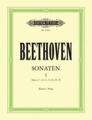 Sonates pour piano. Volume 1 BEETHOVEN Partition Piano - laflutedepan