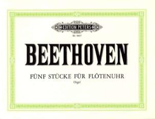 5 Stücke Flötenuhr WoO 3 - BEETHOVEN - Partition - laflutedepan.com