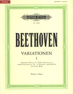 BEETHOVEN - Variations for Piano Volume 1 - Sheet Music - di-arezzo.com
