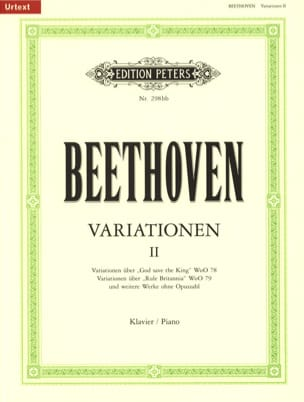 Ludwig van Beethoven - Variations pour Piano Volume 2 - Partition - di-arezzo.fr